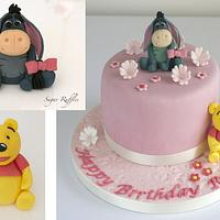 Eeyore and Winnie the Pooh Cake