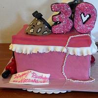 Pink high heel cake