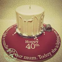 40th birthday candle cake