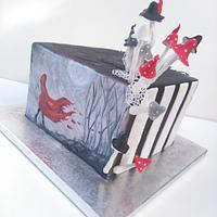 Hand painted crazy cake