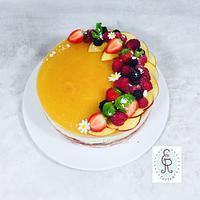 Nakedcake cream cake