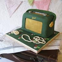 Vintage Roberts Radio cake