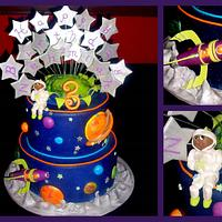 Spaceship 3rd Birthday Cake