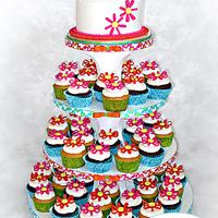 Bat Mitzvah Cupcake Tree
