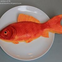 Red fish cake by le delizie di ve