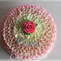 Pink Ombre Buttercream Icing Ruffles