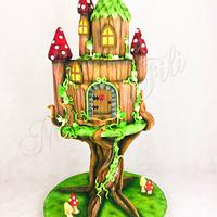 THE MAGICAL WORLD OF FAIRY HOUSES Birthday cake