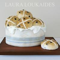 Hot Cross Buns Cake