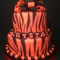 Pink Zebra Birthday Cake by Nikki Belleperche