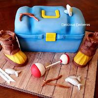 Tackle Box Baby Shower Cake