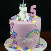 Unicorn Birthday Cake by Cakes by Vivienne