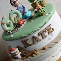 60th Cake  for a gardening and baking lover