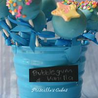 Bubblegum & Vanilla Cakepops