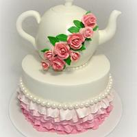Kitchen Tea Teapot Cake
