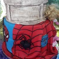 spiderman vs princess cake
