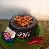 BBQ grill Father's day cake