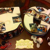 50th Birthday Cake by Heidi