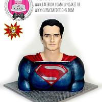 Superman bust cake for Cake Con Collaboration!