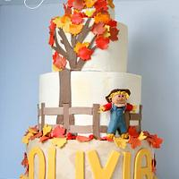 Autumn inspired 1st birthday cake