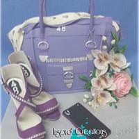 The sexy purple stilletto cake