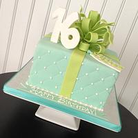 Sweet Sixteen Gift Box Cake by Bianca