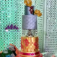Modern crystal cake