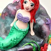 Little Mermaid Cake for Alice by The Rosehip Bakery
