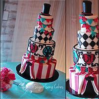 Vintage Circus Wedding Cake, Under the Big Top