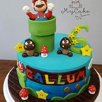 Super Mario's cake
