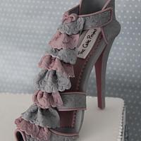 Frilling High heel Shoe