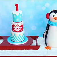 Winter ONEderland Cake by Cuteology Cakes