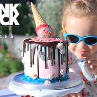PunkArt Cake - Upside Down Ice Cream
