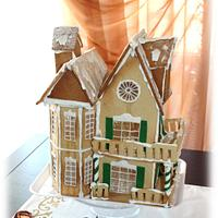 Victorian gingerbread house Christmas 2015