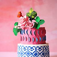 Sugar Flowers & Cakes in Bloom Collaboration - Ekkat Rose Cake