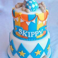 elephant baby shower cake by Sylvia Cake