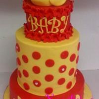 Ducky baby shower cake
