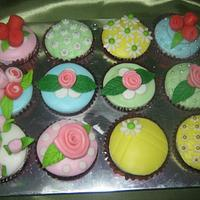 Cath Kidston Style Cupcakes by Cherie Permalino