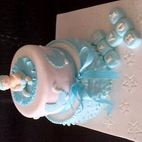 Baby shower cake  by cupcakes of salisbury