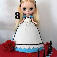 Alice in Wonderland Dolly Varden Blythe Doll Cake