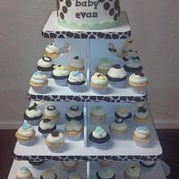 Jungle Baby Shower Cupcake Tower by Jaybugs_Sweet_Shop