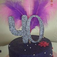 pink purple polka dot cake,,, by fusion cakes srilanka