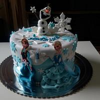 Birthday's cake Frozen
