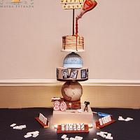 80th Birthday Gravity Defying Cake With Spinning Globe