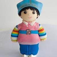 Korean Hanbok Dol Figurine Cake topper