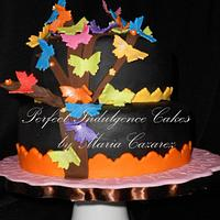 Rainbow of Butterflies by Maria Cazarez Cakes and Sugar Art