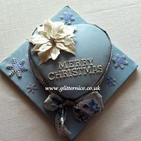 Blue Heart Christmas Cake
