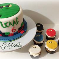 Ninjago Cake and matching cupcakes