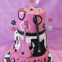 Rock 'n Roll Birthday cake