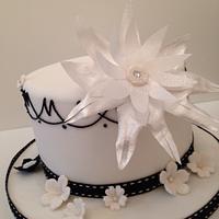 Black & White chic birthday cake