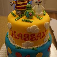 Toopy and Binoo First Birthday Cake